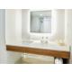 Squeaky Clean Bathroom with Ambient Lighting, Premium Amenities