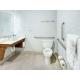 Spacious Bathroom in the Queen Accessible Room