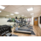 Our Fitness Center includes cardio equipment and free weights.