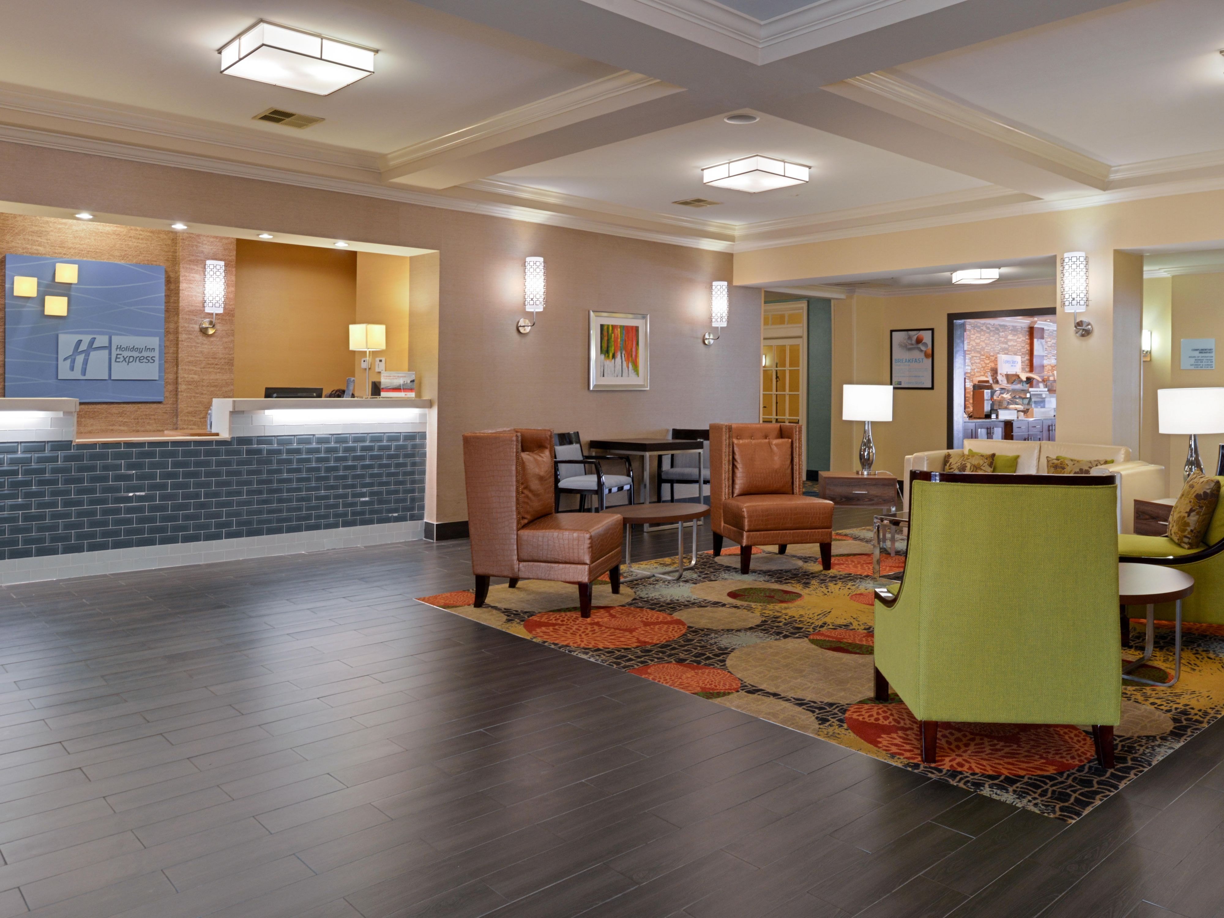 Holiday Inn Express & Suites Hotel Lobby. Simple Smart Travel