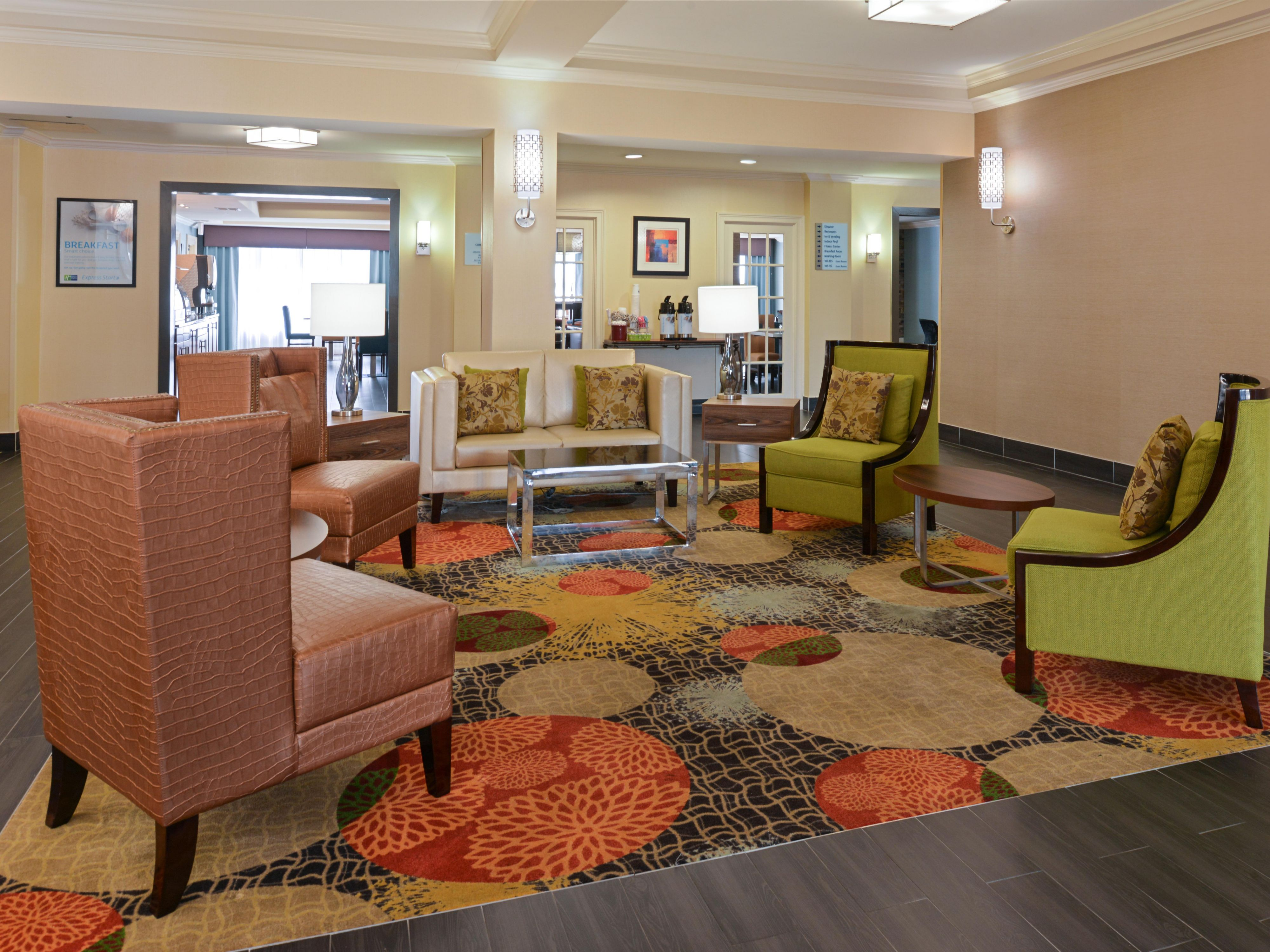 Relaxing Lobby at the Holiday Inn Express & Suites in Bessemer, Al