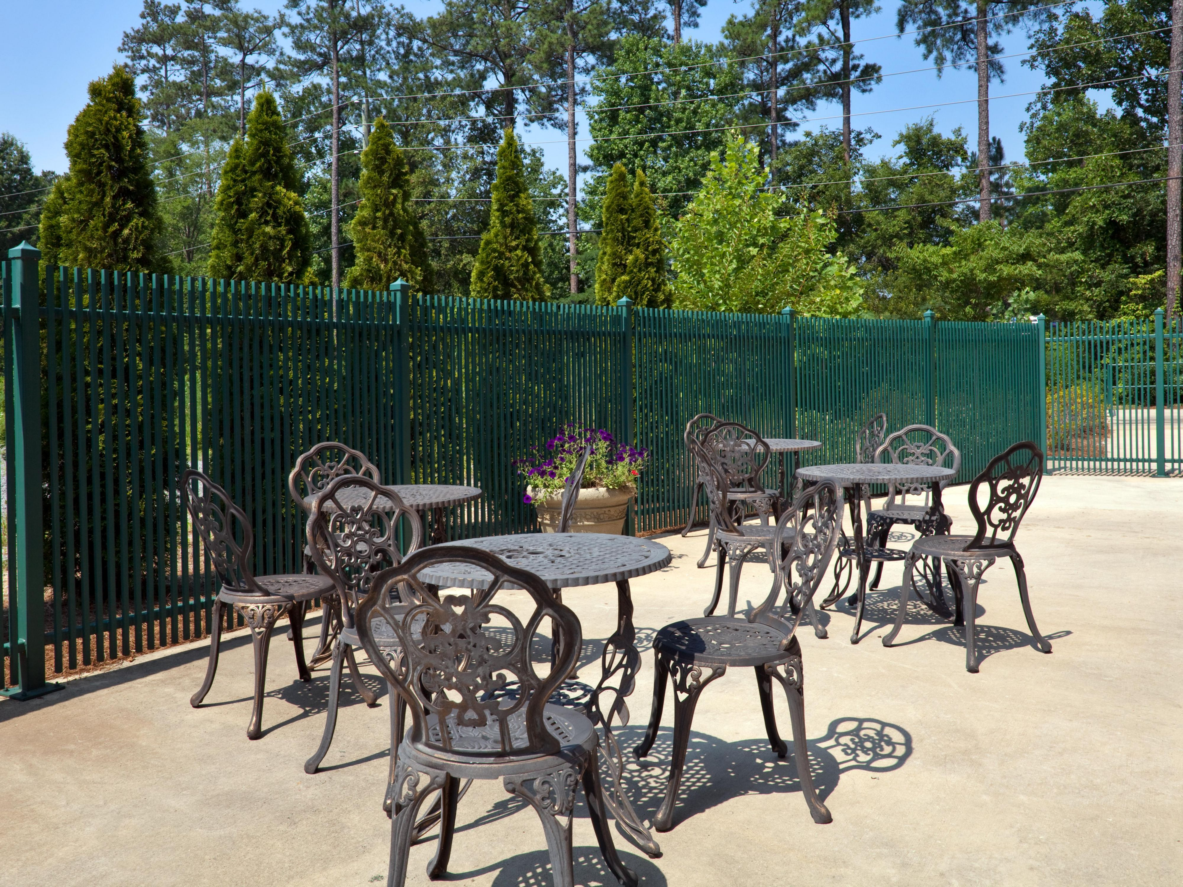 Outdoor Patio perfect for a banquet, wedding luncheon or brunch.