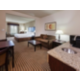 ADA/Hearing accessible King Suite with living area and kitchenette