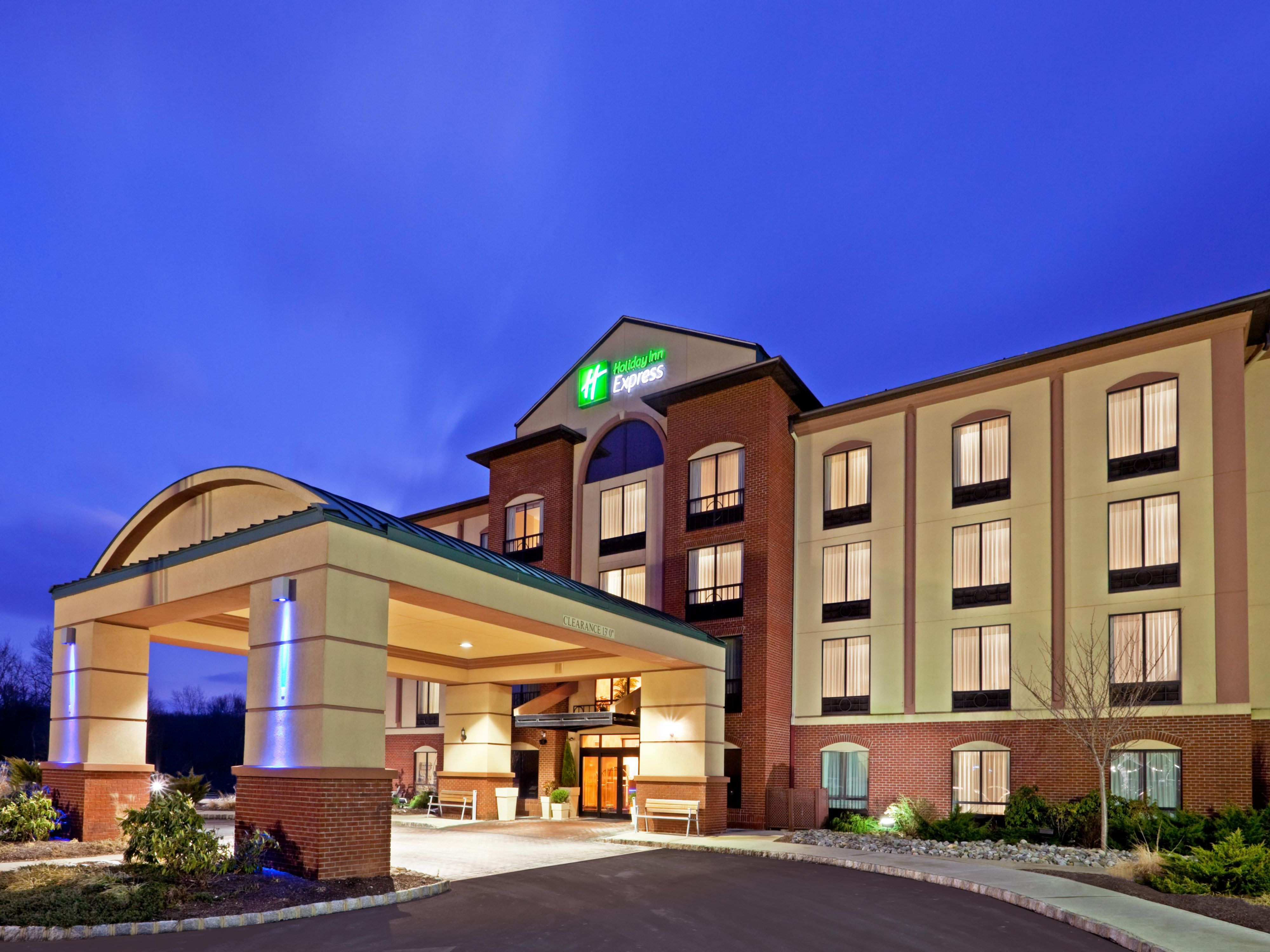 Holiday Inn Express Branchburg at dusk..