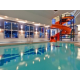 Renovated pool and waterslide