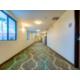Quiet hallway leading to your room