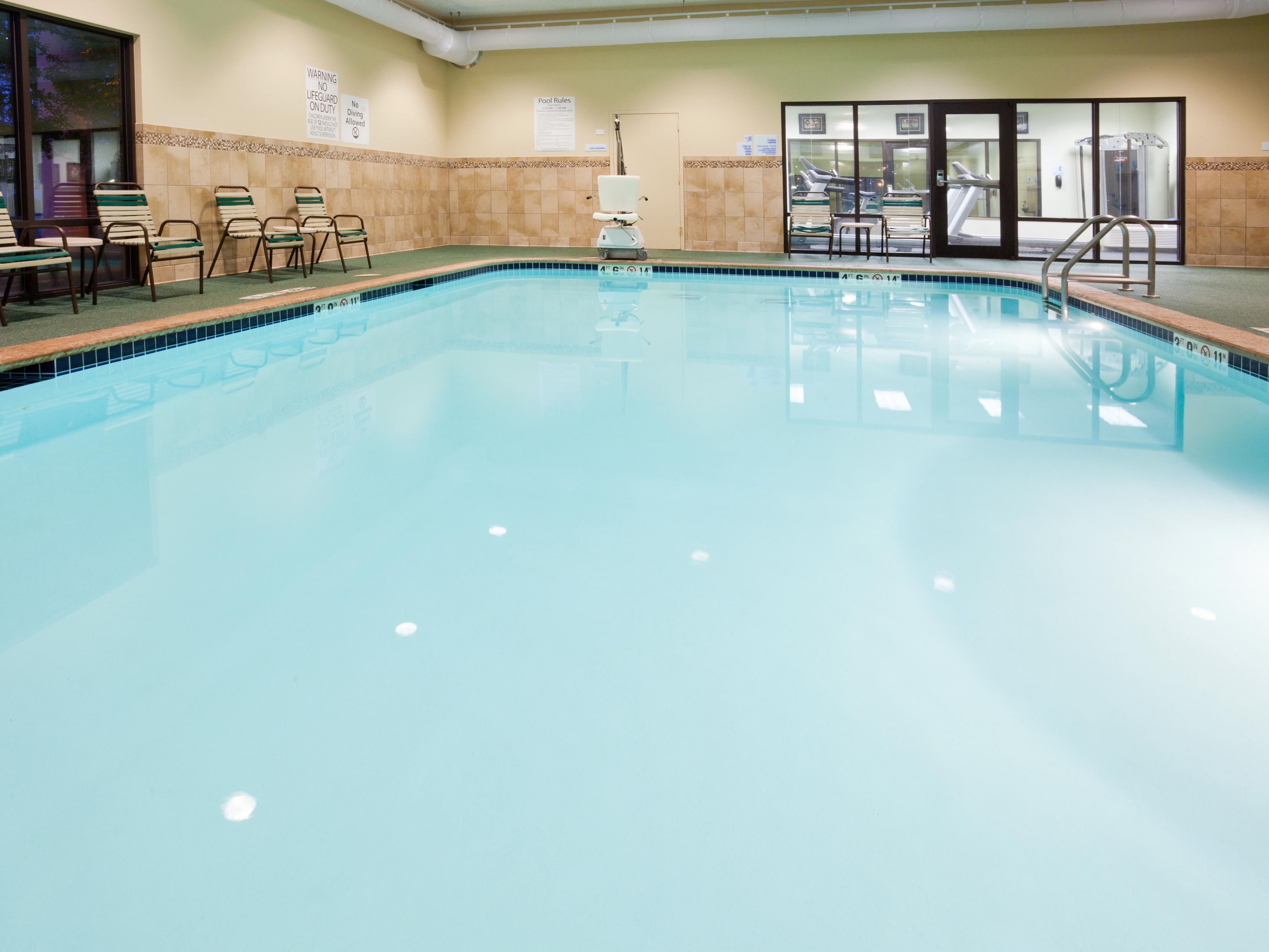 Heated Indoor Swimming Pool and Hot Tub