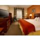 King Bed Guest Room has mini-fridge, microwave, Keurig & free WiFi
