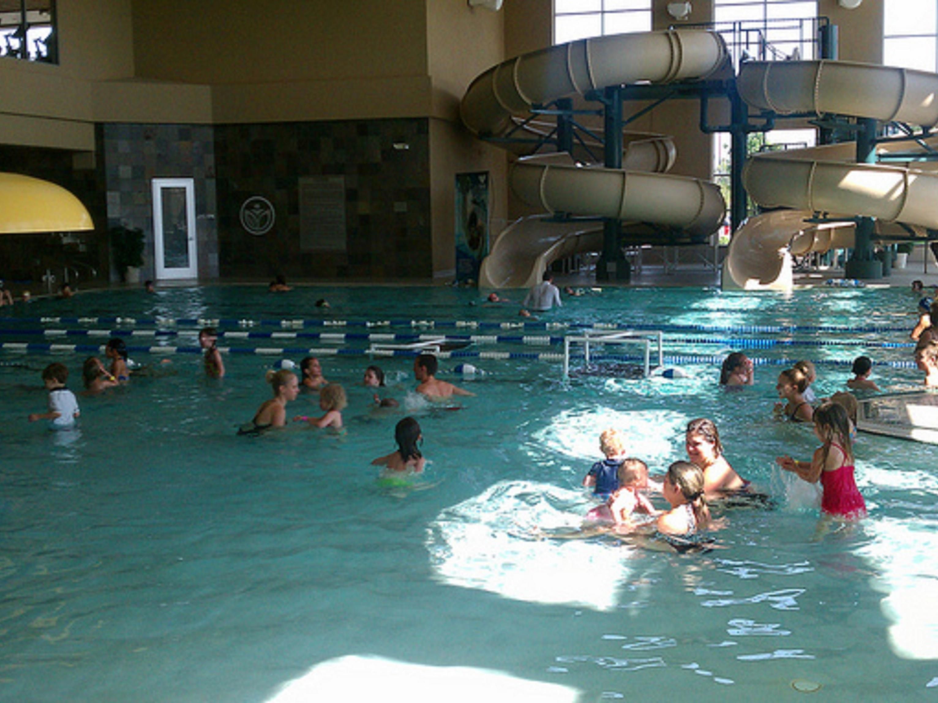 Lifetime Fitness Indoor Pool - located one block West of the hotel