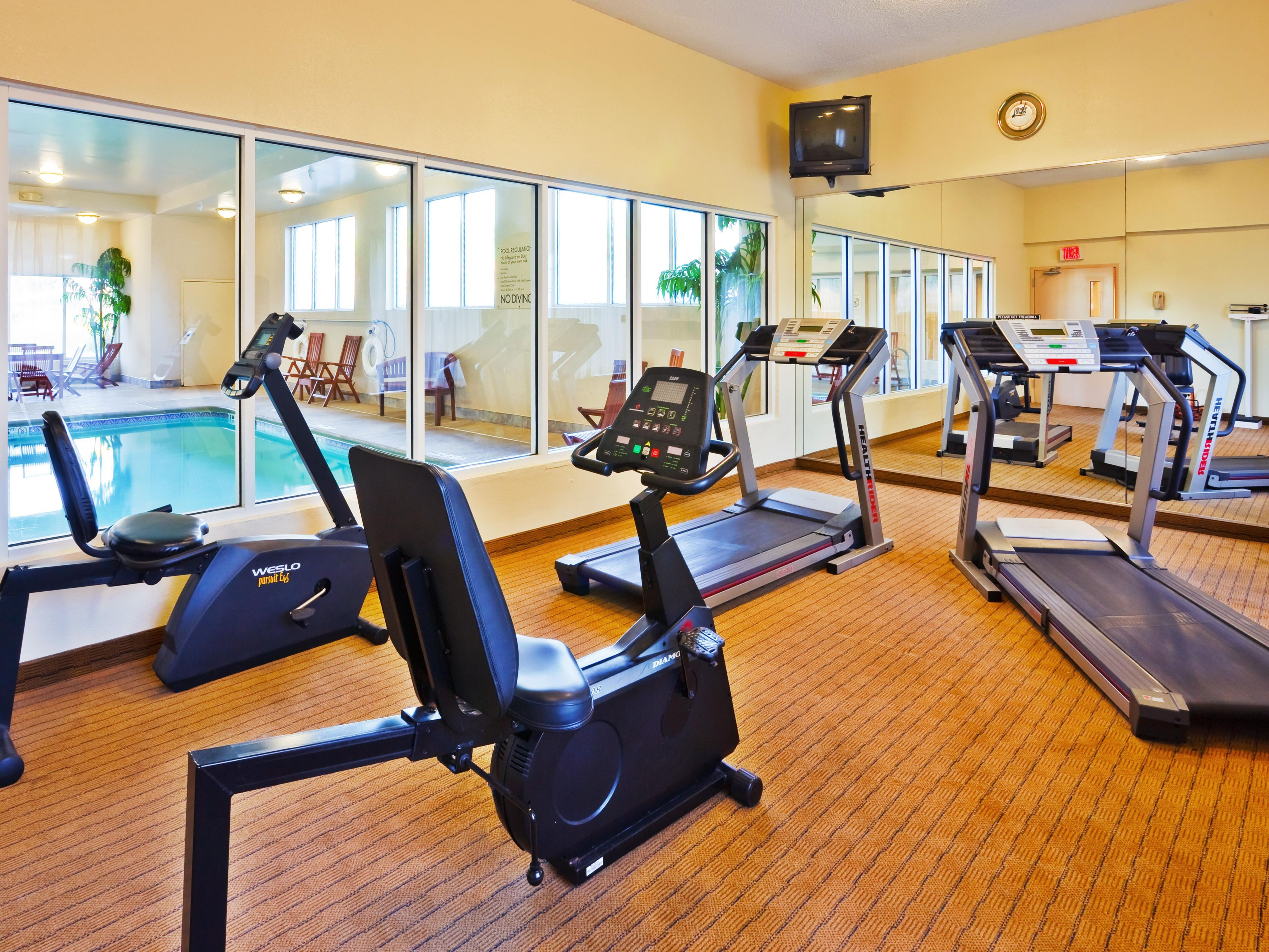Have a quick workout in our 24-hour fitness center.