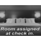 Room assigned at check-in