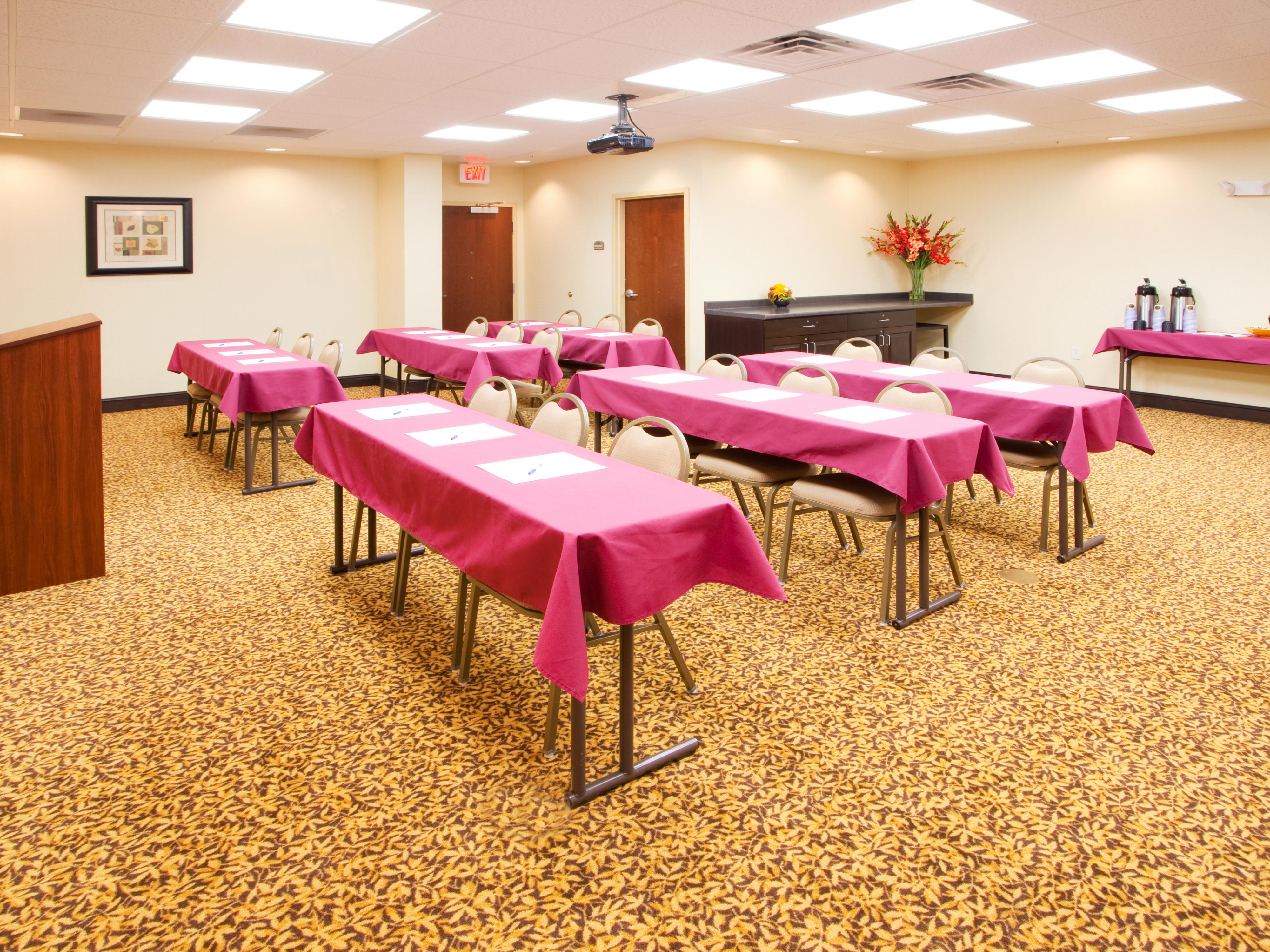 Our meeting room is a great place to hold parties or conferences