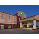 Hotel Entrance at dusk