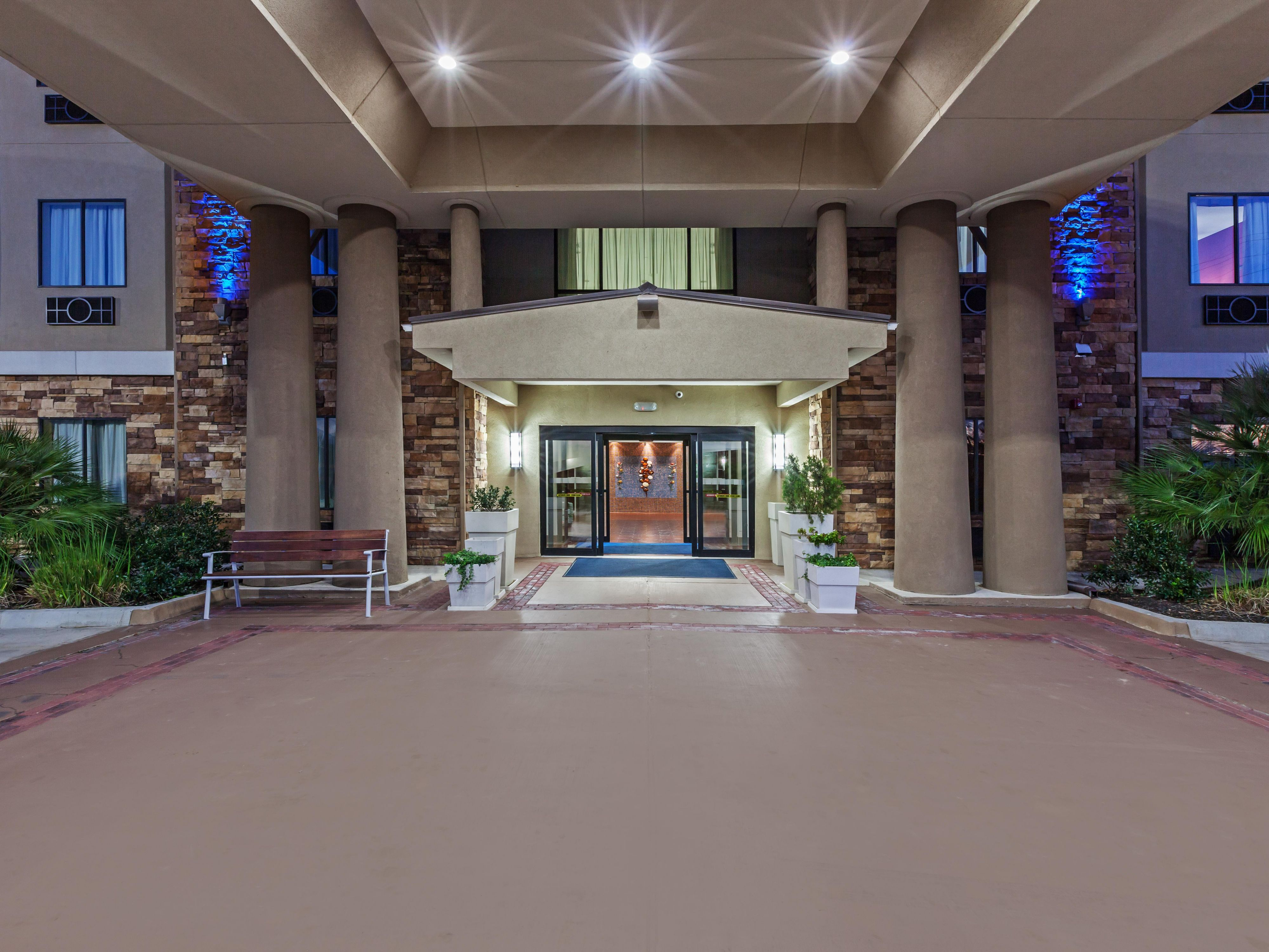 Inviting hotel entrance