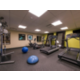 24 hour fitness center with plenty of equipment!
