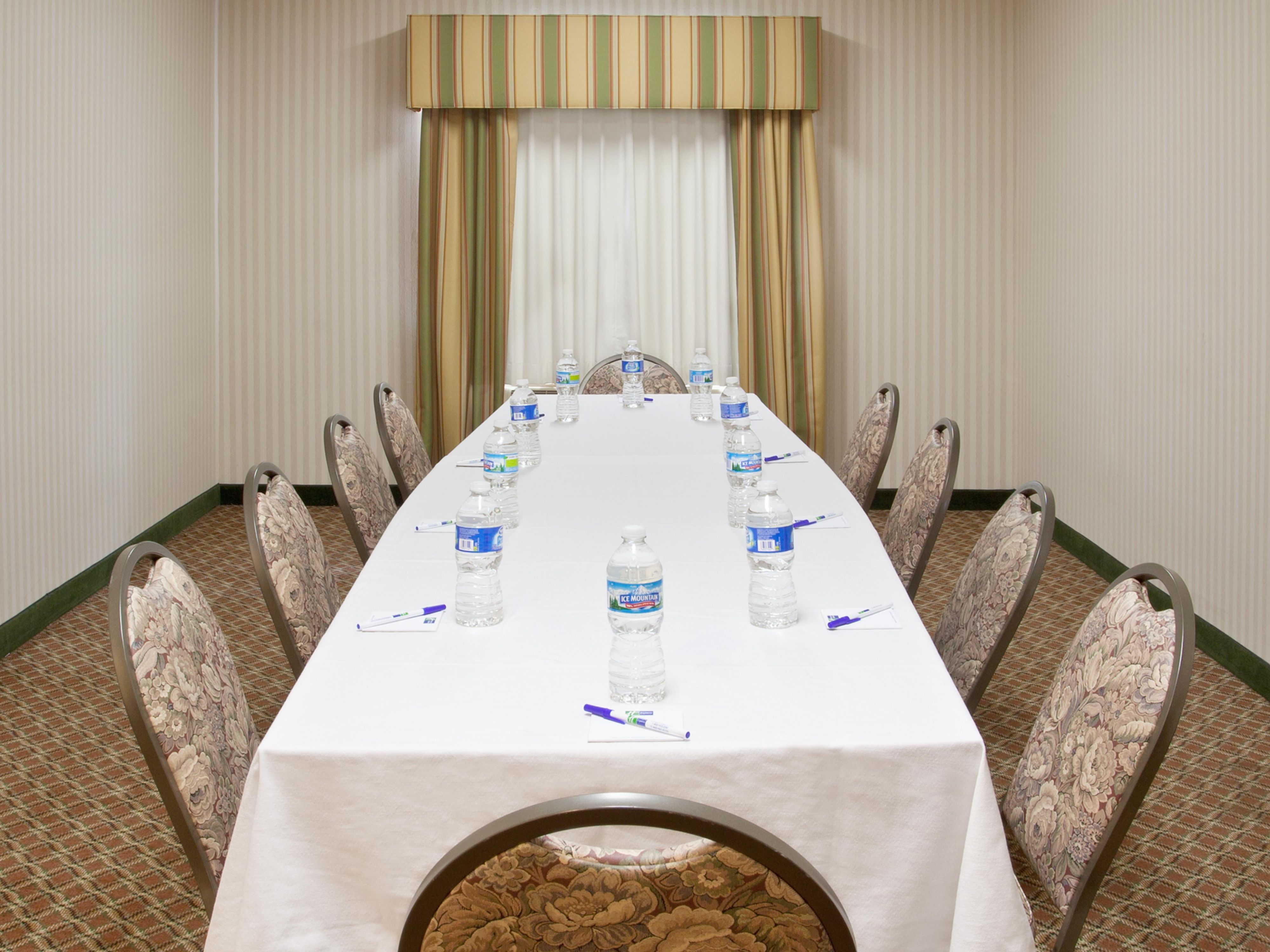 Enjoy a private get together in our boardroom.