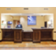 Hotel front desk with 24 hour coverage