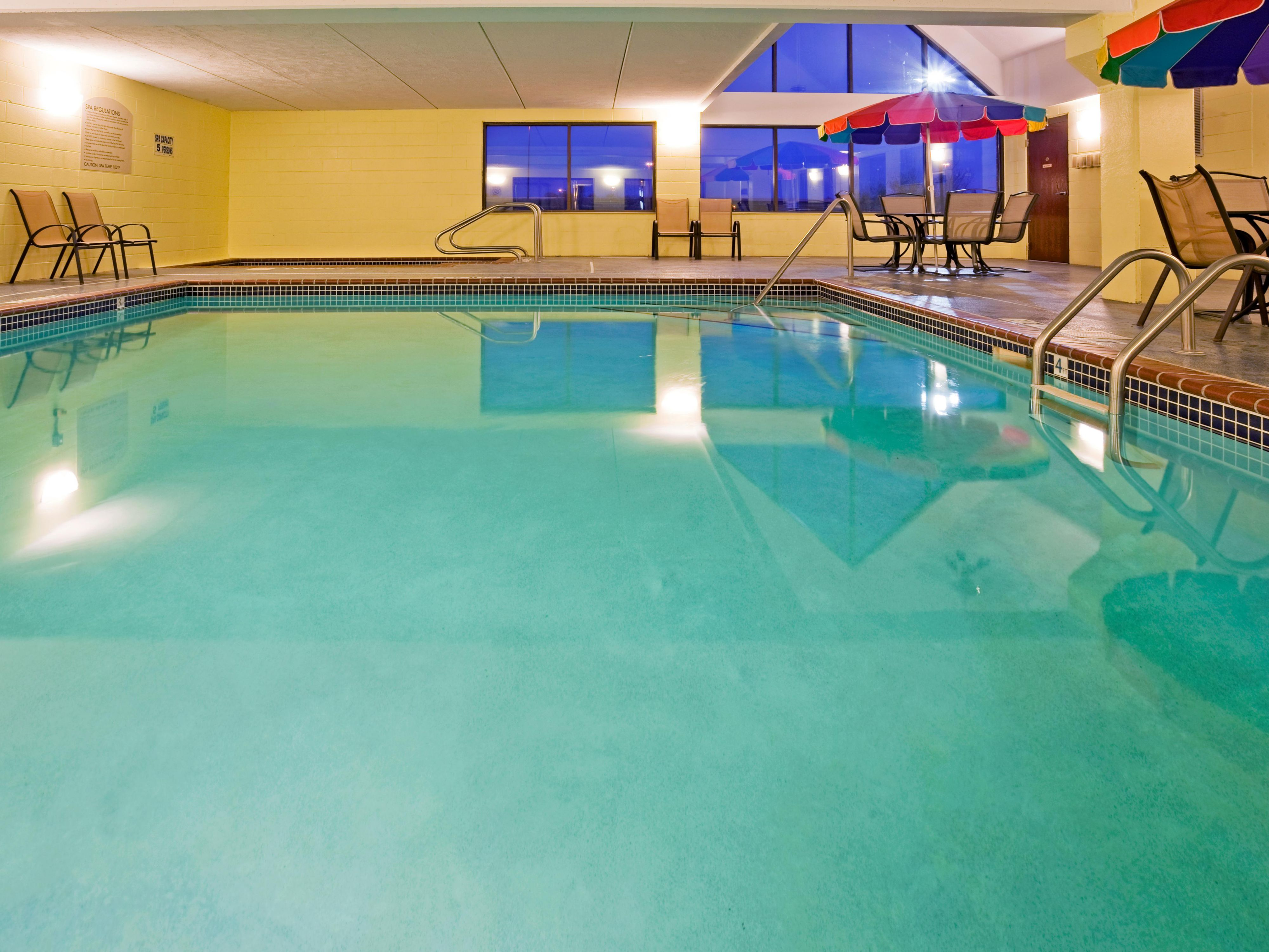 Enjoy fun with the whole family in our indoor heated pool