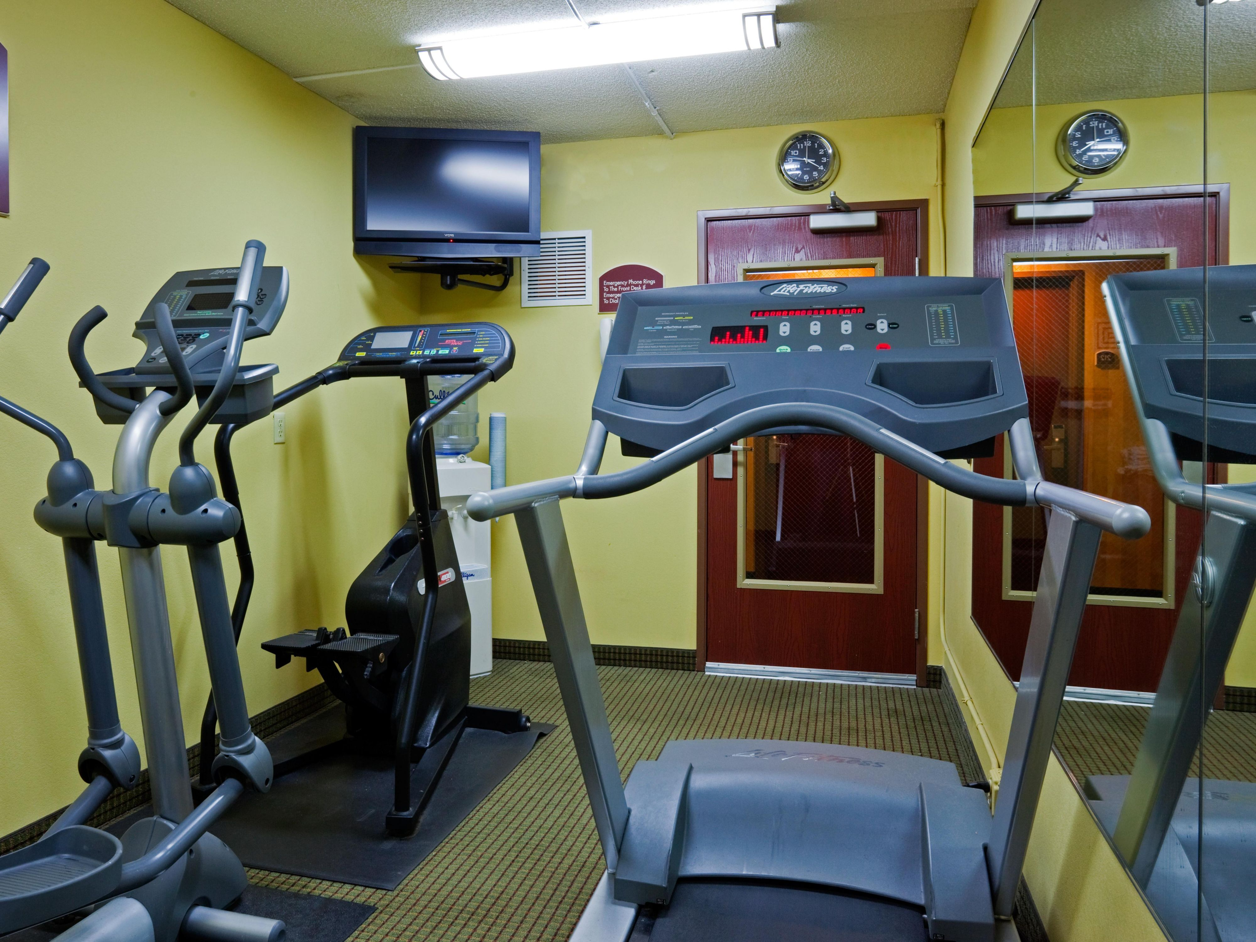 Get in a quick workout in our fitness center