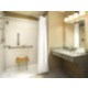 Convenient ADA/Handicapped Guest Bathroom with roll-in shower
