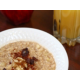 Enjoy some Oatmeal and Juice at breakfast