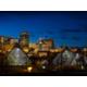 Beautiful Edmonton Skyline and the Muttart conservatory