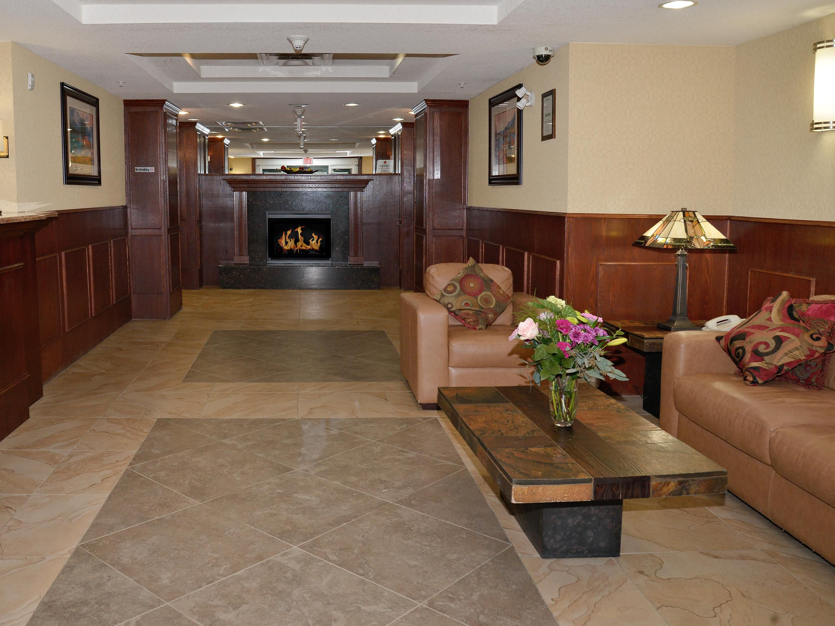 Relax or visit in our cozy lobby