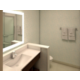 Spacious well lit guest bathrooms
