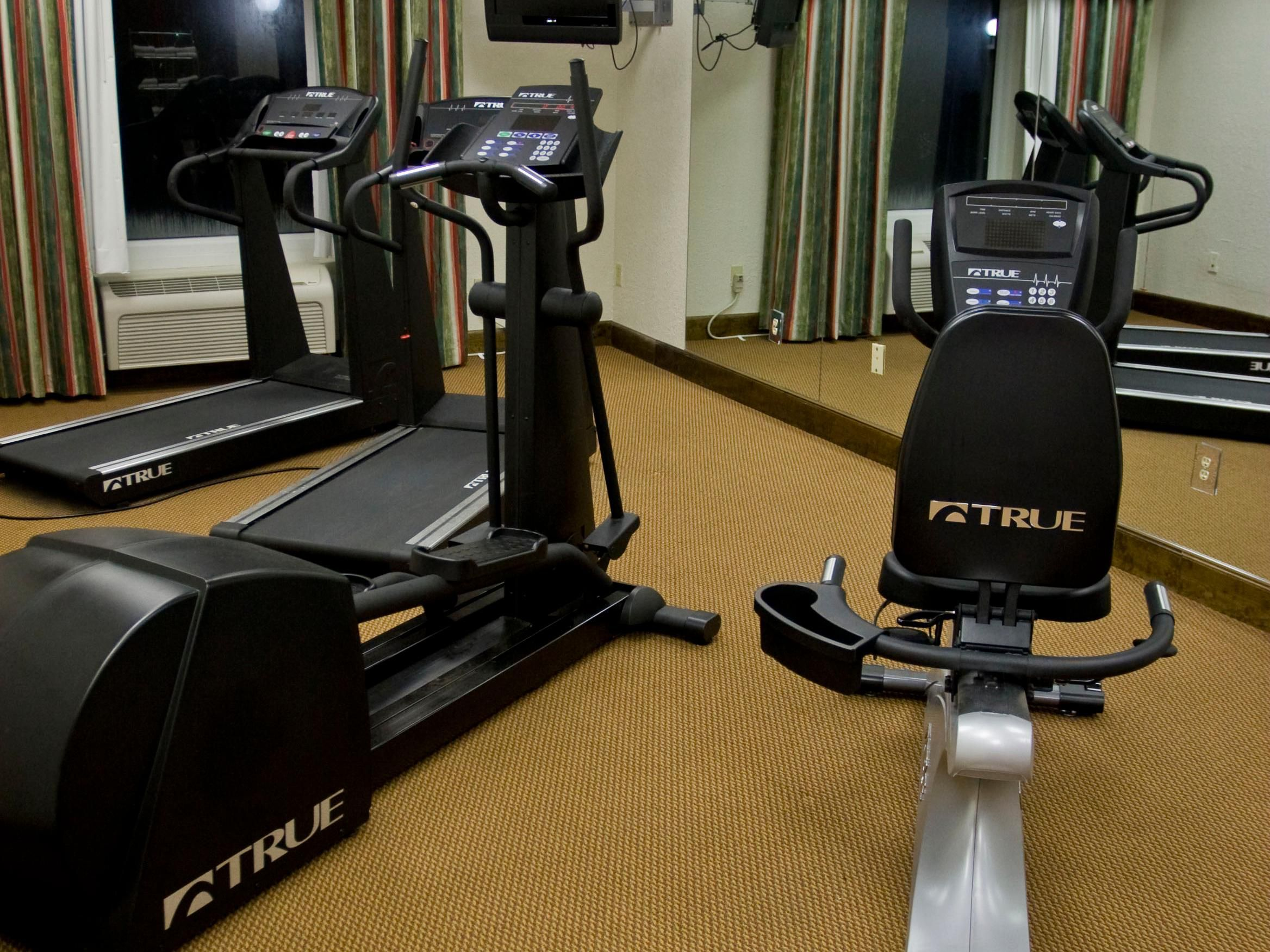 Our fitness center will help you work out your stress.