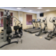 Fitness center features variety of exercise equipment!