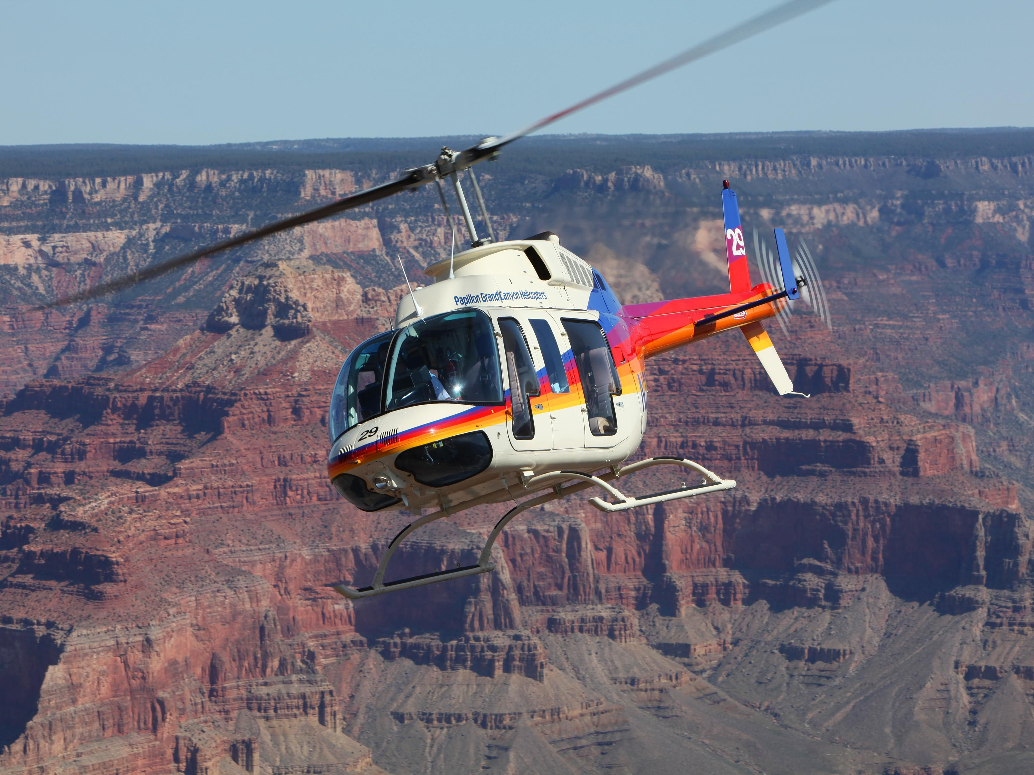 Helicopter and Airplanes tours have the best views of the Canyon
