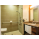 ADA Guest Bathroom with roll-in shower Hobbs NM Hotel
