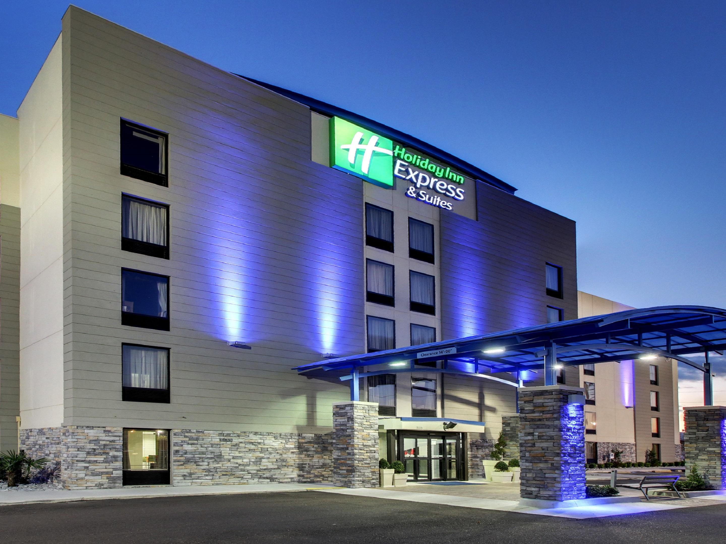 Well lit Welcome at the Holiday Inn Express