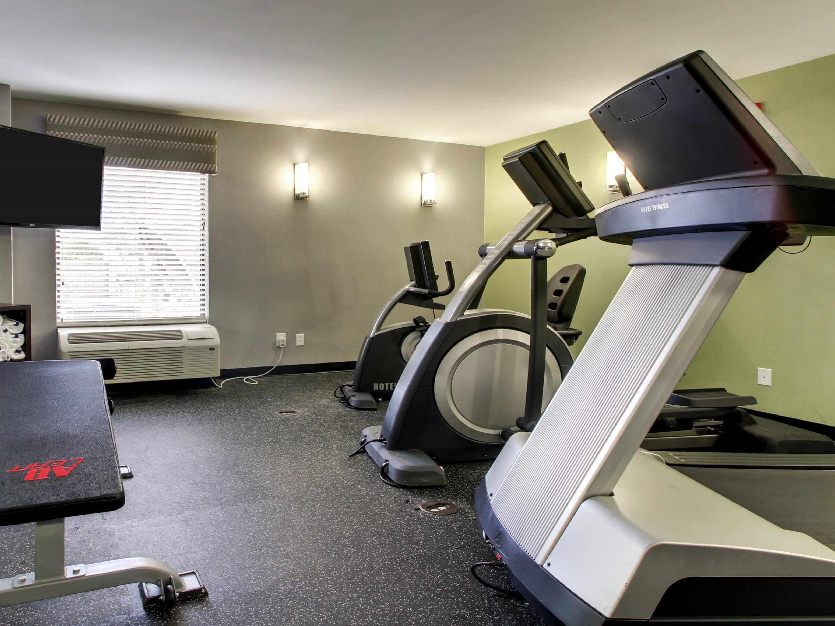 Stay Smart, Say Fit with our convenient on-site Fitness room