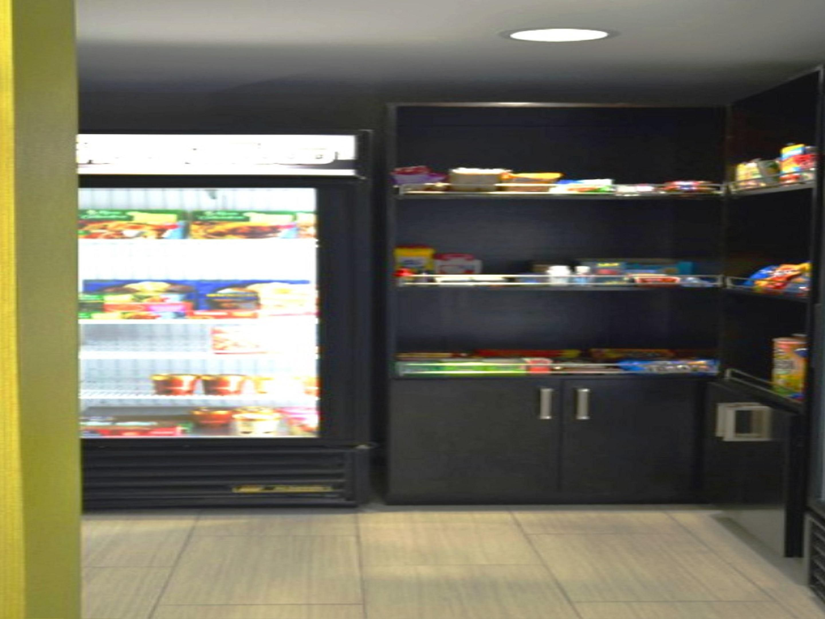 Suite Shop has multiple snack and beverage options
