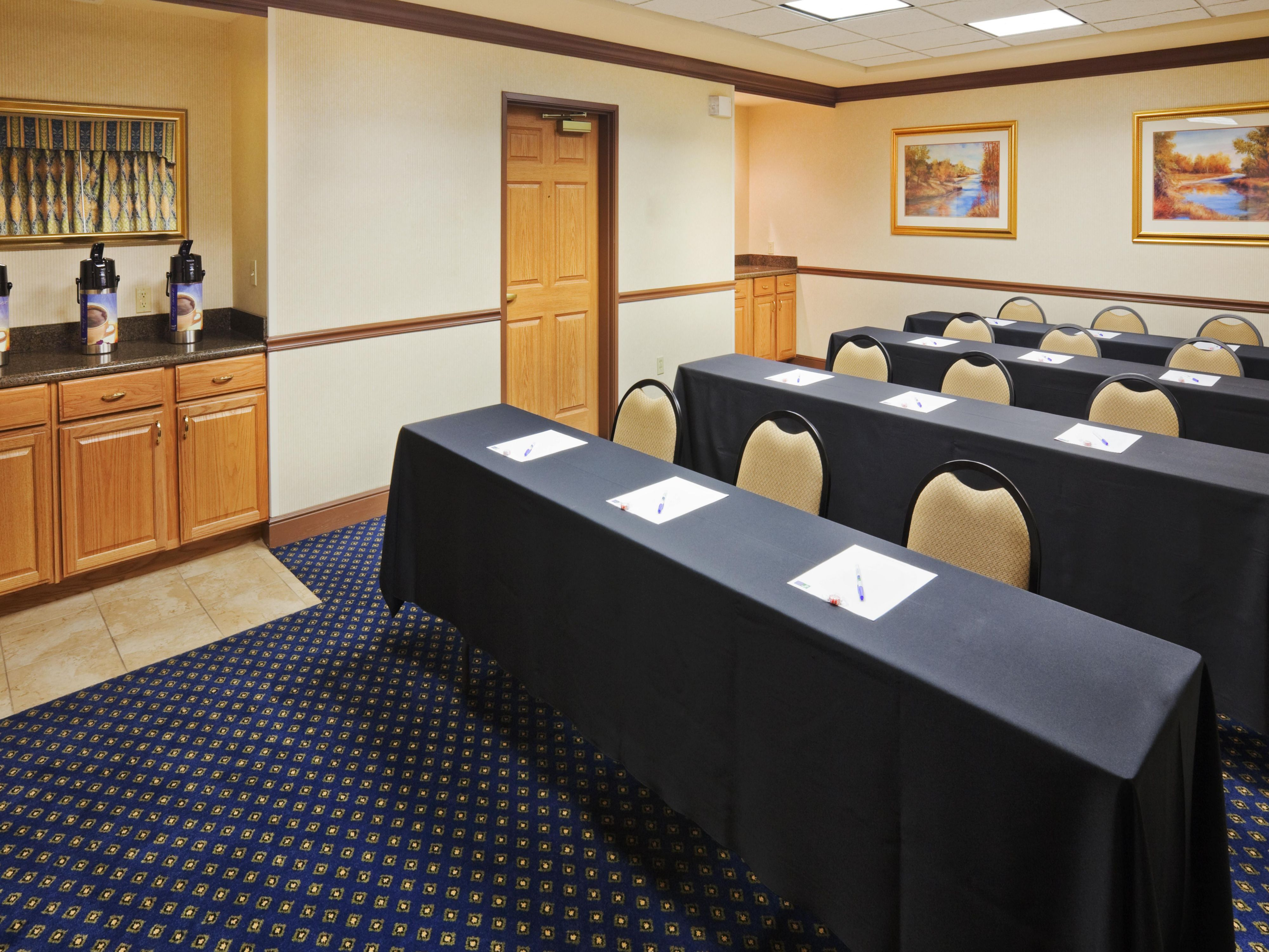 Our boardroom is perfect for business meetings!
