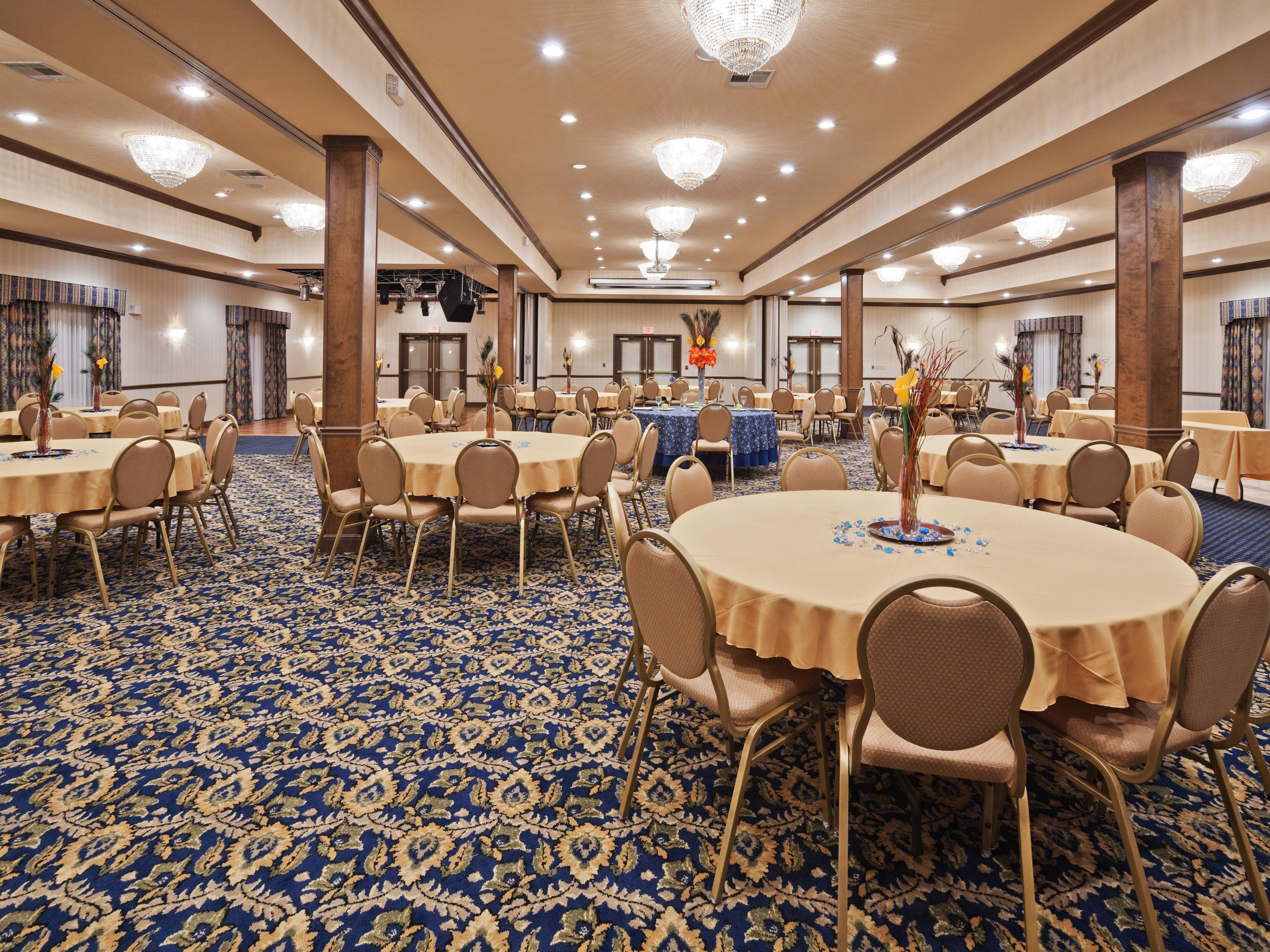 Make your event extra special in our elegant Ballroom!