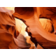 The ancient sandstone cliffs of Peekaboo Slot Canyon