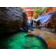 Crystal Clear Emerald Pools in the Subway at Zion National Park
