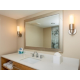 Newly renovated guest bathrooms feature upgraded bath amenities