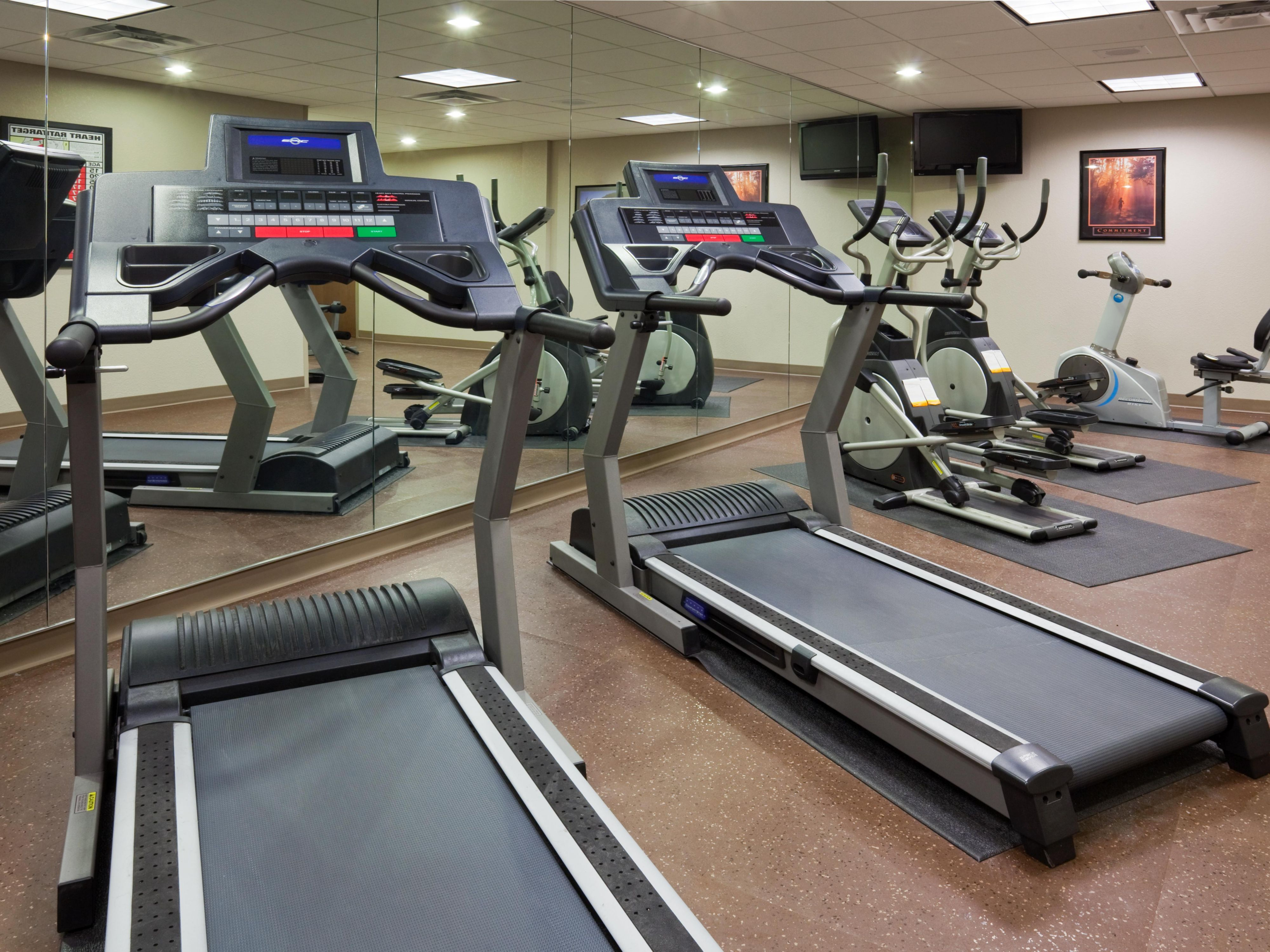 24 Hour Fitness Center at the Holiday Inn Express Mankato