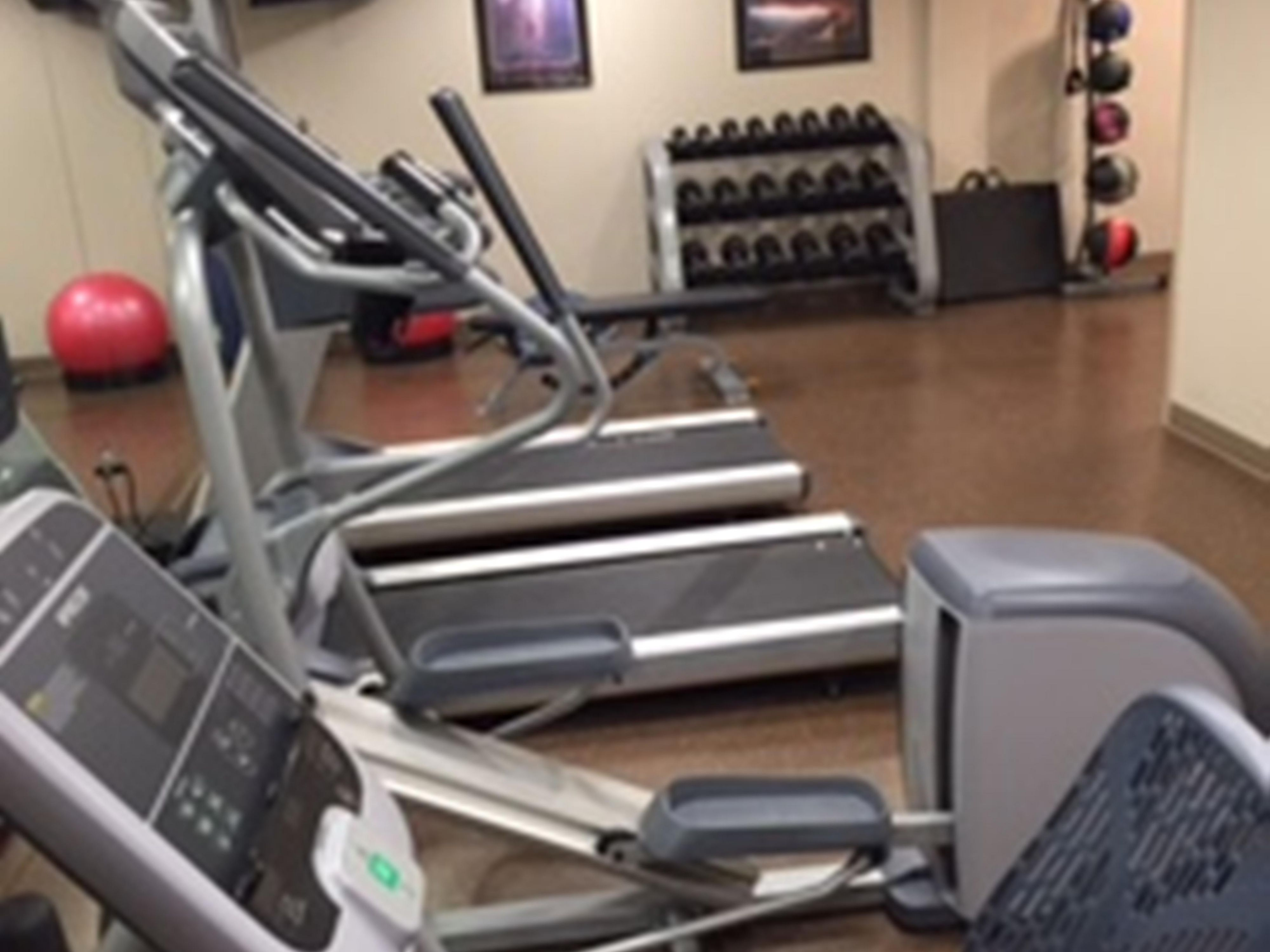Fitness Center Includes Free Weights
