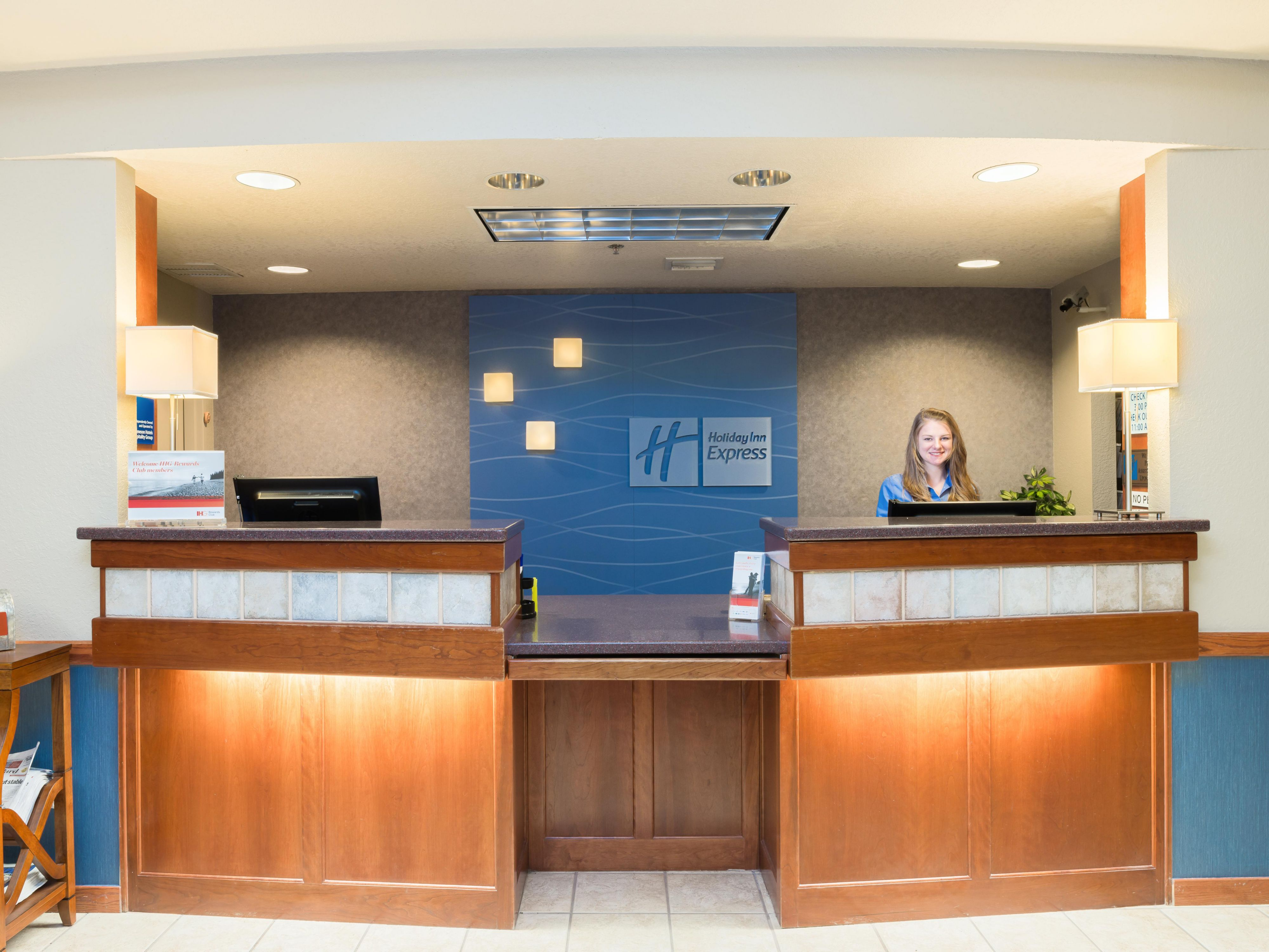 Our front desk staff is ready to assist you!
