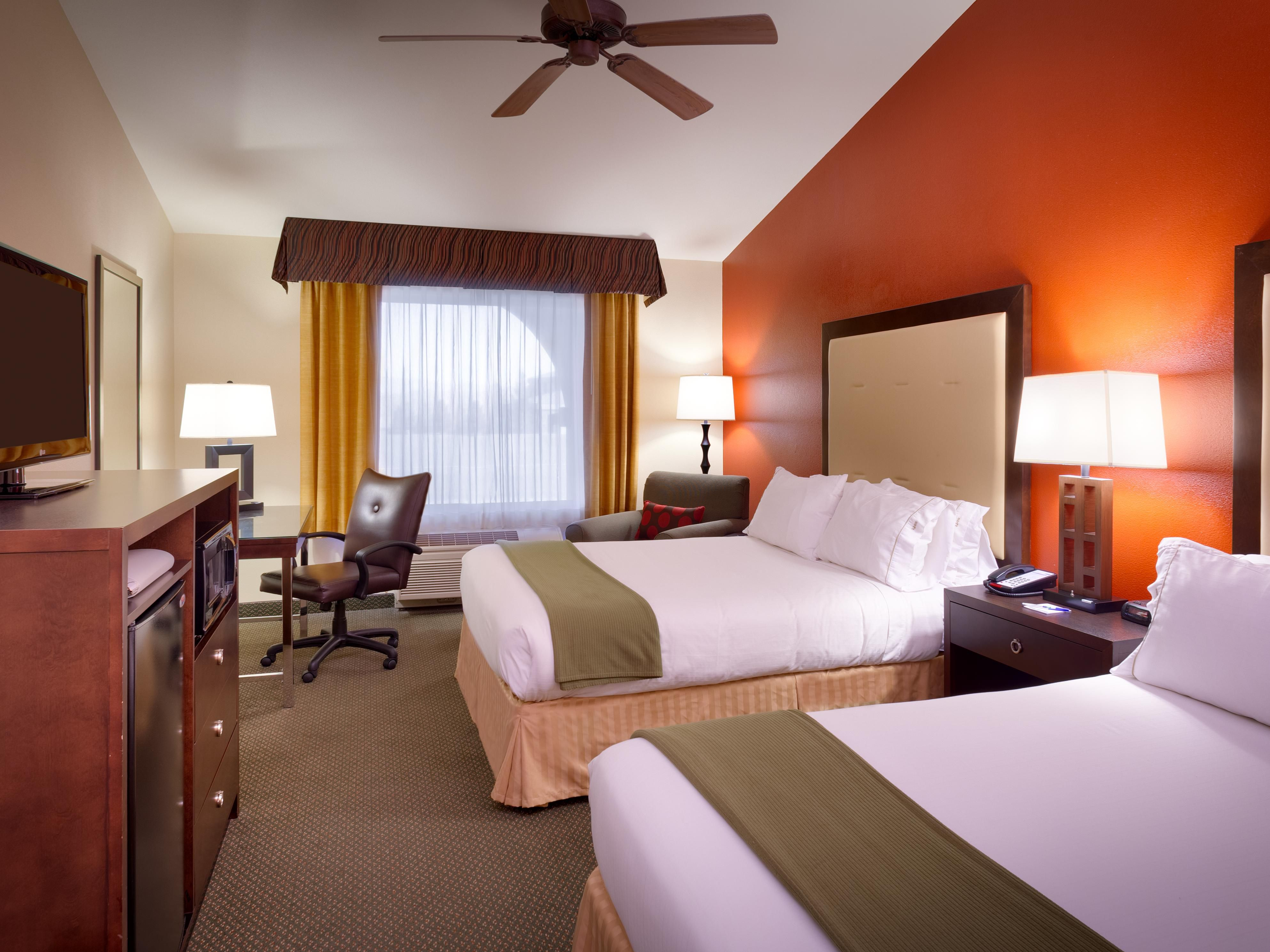 Our spacious two queen bed rooms are perfect for the family.
