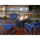 Enjoy our patio & fire feature with your friends and family.