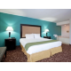 Two Bedroom Suite, first room with King bed and Whirlpool