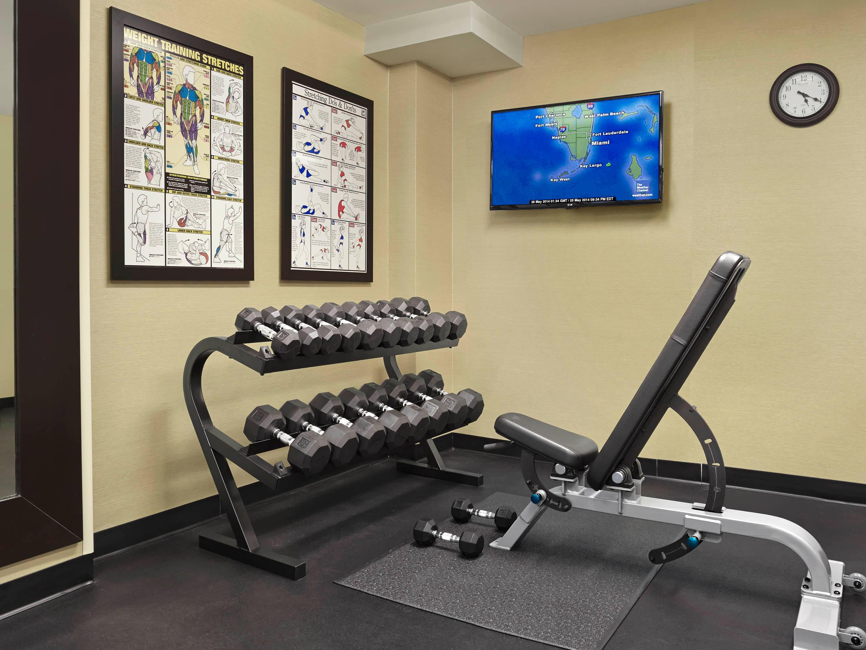 Get in your workout in our Fitness Center