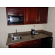 Suite kitchenette, fridge and microwave