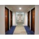 Interior corridor with vibrant lighting