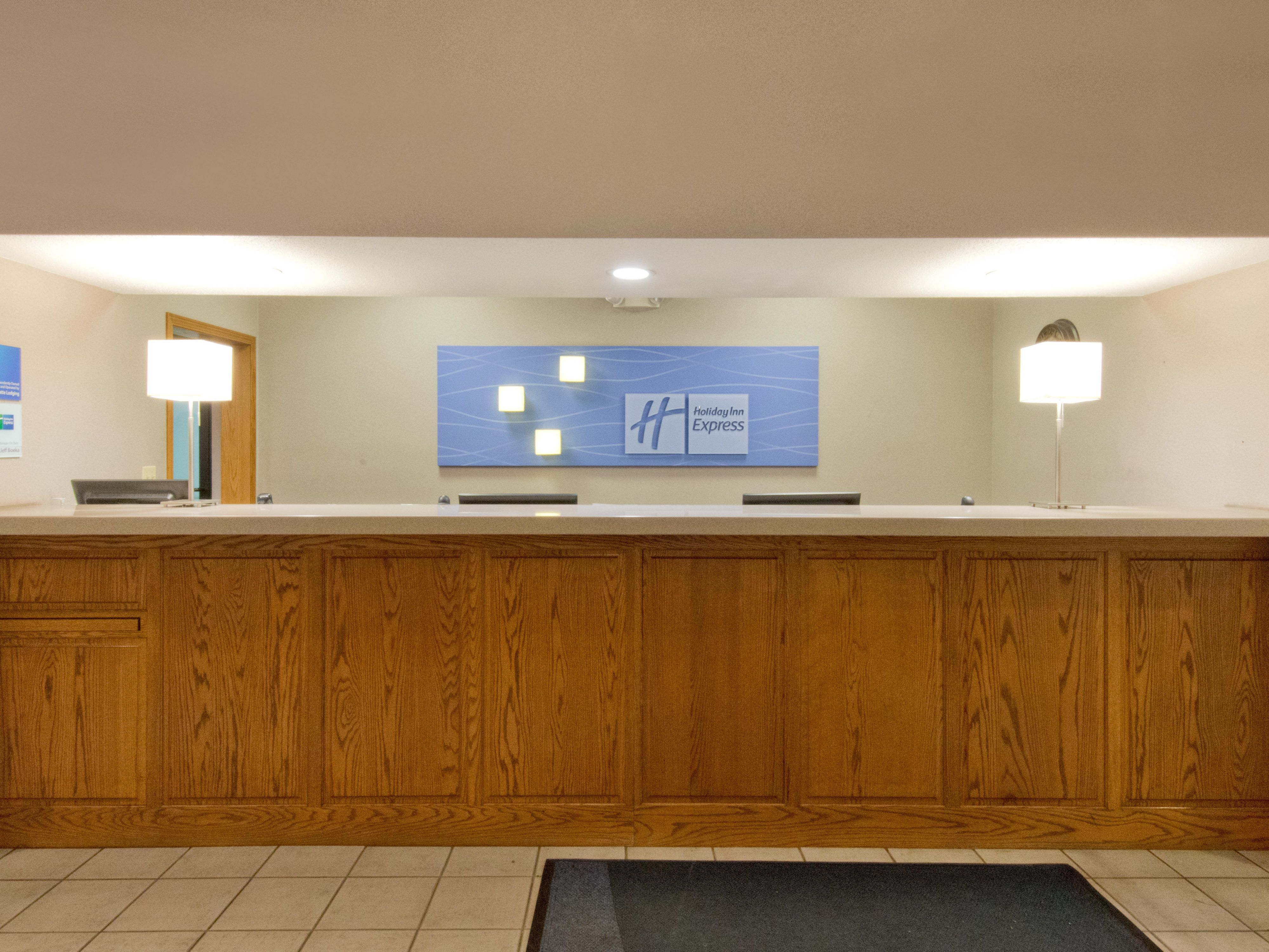 Holiday Inn Express and Suites North Platte Front Desk